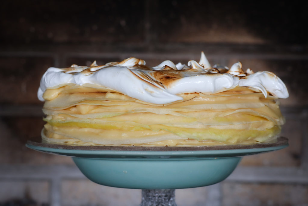 Lemon Meringue Crepe Tart