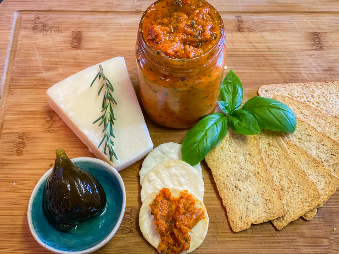 Peppadew and Sun-Dried Tomato Pesto